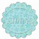 Auqa Snowflake Blank Scalloped ~ Cupcake Toppers ~ Set of 1 Dozen