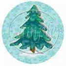 Auqa Snowflake Tree  ~ Cupcake Toppers ~ Set of 1 Dozen