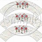 White Embossed Snowbirds  ~ Christmas ~ Cupcake Wrappers ~ Set of 1 Doze