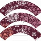 Maroon Ornaments ~ Cupcake Wrappers ~ Set of 1 Dozen
