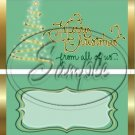 Merry Christmas From All of Us ~ Green ~ Standard 1.55 oz Candy Bar Wrapper  SOE