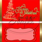 Merry Christmas From All of Us ~ Red ~ Standard 1.55 oz Candy Bar Wrapper  SOE