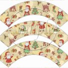 Santa & Friends ~ Cupcake Wrappers ~ Set of 1 Dozen