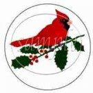 Cardinal & Poinsettia ~ Cupcake Toppers ~ Set of 1 Dozen