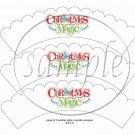 Christmas Magic  Scalloped White ~ Cupcake Wrappers ~ Set of 1 Dozen