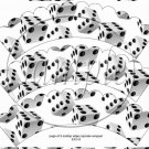 Bunco Dice #2 Scalloped ~ Cupcake Wrappers ~ Set of 1 Dozen