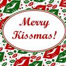 Merry Kissmas ~ Christmas ~  Quart Glass Jar
