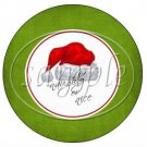 Santa Hat Merry Christmas Green  ~ Cupcake Toppers ~ Set of 1 Dozen