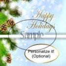 Tranquil Evergreen Happy Holidays  ~ Standard 1.55 oz Candy Bar Wrapper  SOE