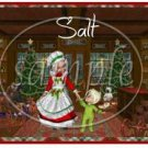Mrs Claus Dancing Boy ~ Salt & Pepper Shaker Covers Wrappers