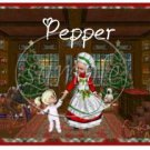Mrs Claus Dancing Girl ~ Salt & Pepper Shaker Covers Wrappers