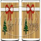 Christmas Tree Gold Background ~ Salt & Pepper Shaker Covers Wrappers