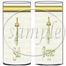 Gold Cross ~ Salt & Pepper Shaker Covers Wrappers