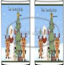 Snowbuddies  ~ Salt & Pepper Shaker Covers Wrappers