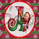 Elf ~  Alphabet MINI Candy Bar Wrapper
