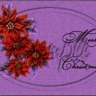 "Merry Christmas Poinsettia Purple ~ Horizontal  ~ 6"" X 8"" Foil Pan Lid Cover"