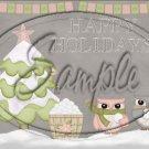 "December Magic ~ Christmas  ~ Horizontal  ~ 6"" X 8"" Foil Pan Lid Cover"