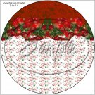 """Red Christmas Garland ~ 7"""" Round Foil Pan Lid Cover"""