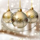 """Gold & Beige Christmas ~ Vertical  ~ 6"""" X 8"""" Foil Pan Lid Cover"""