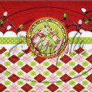 "Joy Argyle~ Christmas  ~ Horizontal  ~ 6"" X 8"" Foil Pan Lid Cover"