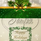 """Gold & Green Christmas ~ Vertical  ~ 6"""" X 8"""" Foil Pan Lid Cover"""