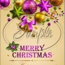 "Gold & Purple Christmas ~ Vertical  ~ 6"" X 8"" Foil Pan Lid Cover"