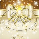 """Gold  Christmas ~ Vertical  ~ 6"""" X 8"""" Foil Pan Lid Cover"""