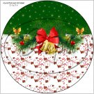 """Green Christmas Garland ~ 7"""" Round Foil Pan Lid Cover"""