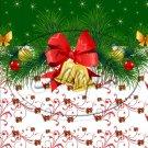 "Green Christmas Garland  ~ Vertical  ~ 6"" X 8"" Foil Pan Lid Cover"