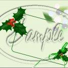 "Seasons Greetings Green Holly ~ Christmas ~ Horizontal  ~ 6"" X 8"" Foil Pan Lid Cover"
