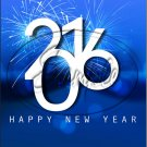 """Blue Fireworks Happy New Year 2016   ~ Vertical  ~ 6"""" X 8"""" Foil Pan Lid Cover"""