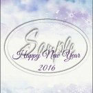 "Water Color Snowflakes Happy New Year 2016   ~ Vertical  ~ 6"" X 8"" Foil Pan Lid Cover"