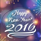 "Night Glow Happy New Year 2016   ~ Vertical  ~ 6"" X 8"" Foil Pan Lid Cover"