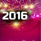 "Pink Fireworks Happy New Year 2016   ~ Vertical  ~ 6"" X 8"" Foil Pan Lid Cover"