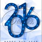 "Blue Ice New Year 2016   ~ Vertical  ~ 6"" X 8"" Foil Pan Lid Cover"