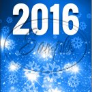 "Bright Blue Snowflakes New Year 2016   ~ Vertical  ~ 6"" X 8"" Foil Pan Lid Cover"