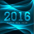 "Black Aqua Waves Snowflakes New Year 2016   ~ Vertical  ~ 6"" X 8"" Foil Pan Lid Cover"