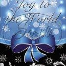"Blue Ribbon Christmas  ~ Vertical  ~ 6"" X 8"" Foil Pan Lid Cover"