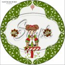 "Happy Holidays Peppermint Patty ~ Christmas  ~ 7"" Round Foil Pan Lid Cover"