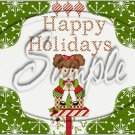 "Happy Holidays Peppermint Patty ~ Christmas ~ Horizontal  ~ 6"" X 8"" Foil Pan Lid Cover"