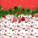 "Red Christmas Garland  ~ Vertical  ~ 6"" X 8"" Foil Pan Lid Cover"