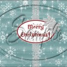 "Silver Snowflakes ~ Christmas  ~ Horizontal  ~ 6"" X 8"" Foil Pan Lid Cover"