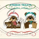 "S'Mores Treats ~ Christmas ~ Horizontal  ~ 6"" X 8"" Foil Pan Lid Cover"