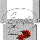 Merry Christmas Poinsettia Gray Grey ~  Hershey's Mini Candy Bar 4 Wrapper Box