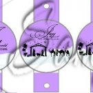 Joy to the World Purple ~ Pencil, Straw or Candy Cane Sliders ~ Set of 12