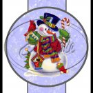 Blue Snowman ~ Pencil, Straw or Candy Cane Sliders ~ Set of 12