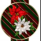 Red & White Poinsettia ~ Pencil, Straw or Candy Cane Sliders ~ Set of 12