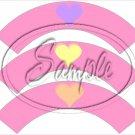 Conversation Hearts Pink ~ Valentine's Day ~ Cupcake Wrappers ~ Set of 1 Dozen