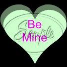 Conversation Hearts Green ~ Valentine's Day ~ Cupcake Toppers ~ Set of 1 Dozen