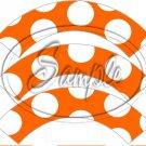 Orange Large Polka Dot Tea Party ~ Tea Cup Cupcake Wrappers ~ Set of 1 Dozen